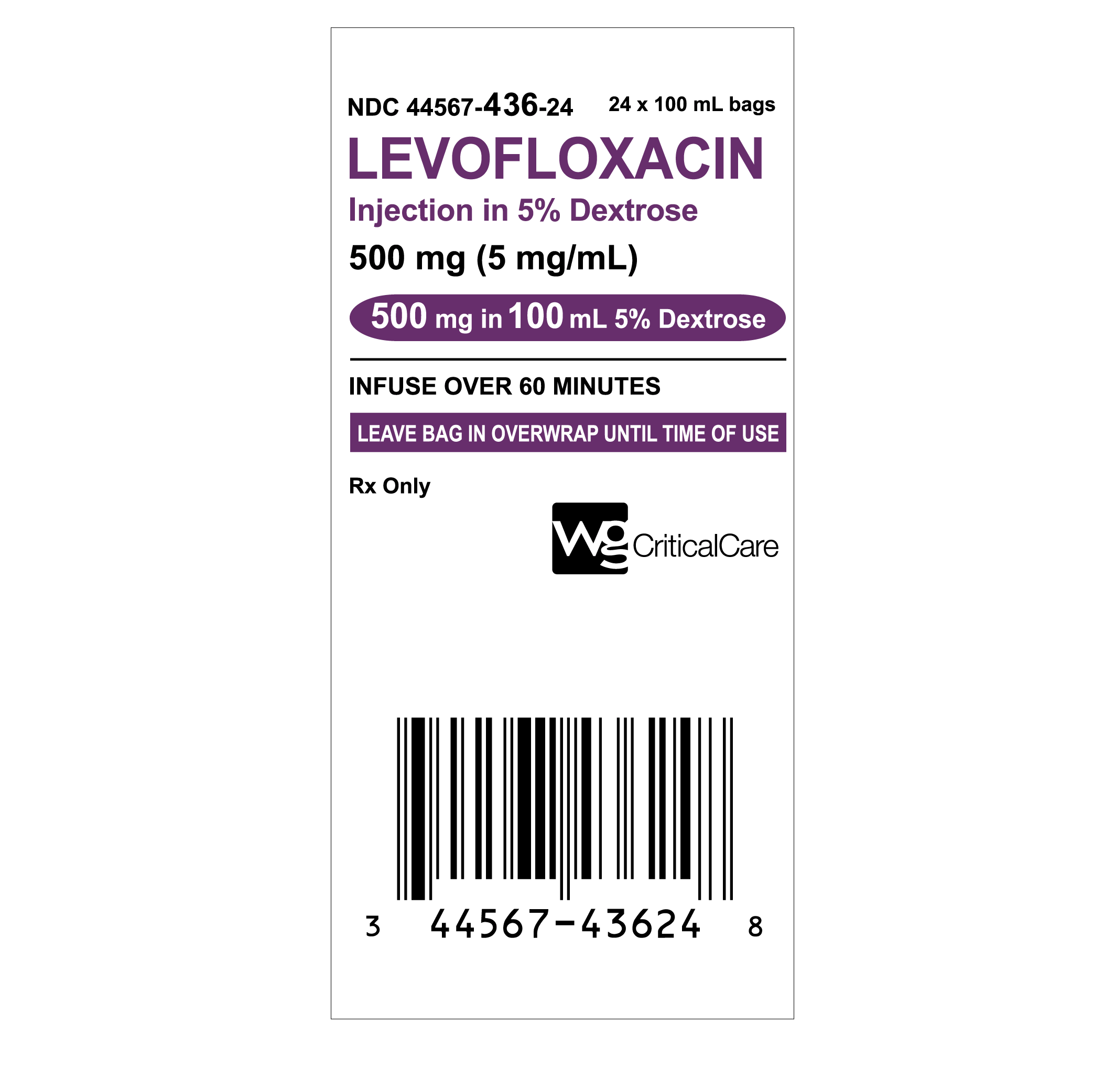 Levofloxacin Injection in 5% Dextrose – WG Critical Care